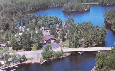 Overhead view Silver Rapids Lodge
