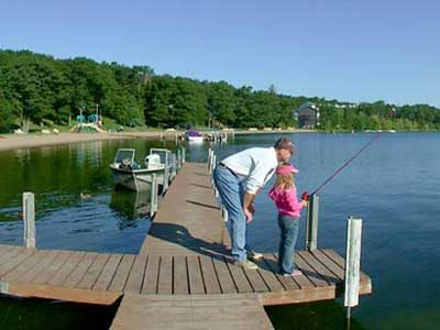 Fishing on Gull Lake