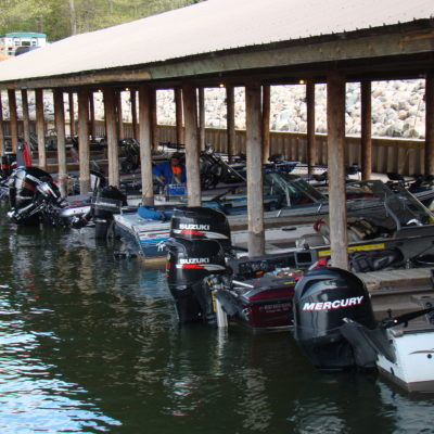 Protected Hard Covered Harbor with Slip Rental